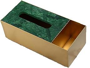 Deksel van tissuedoos Messing Papier Facial Tissue Box for badkamer Vanity Countertops Night Stands Desks and Office Table...
