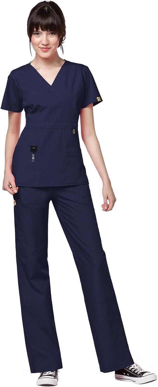 price WonderWink Charlotte Mall Origins Women's Scrub Set Top Bundle- 6056 Wrap Mock