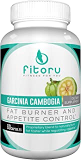 Fitoru Premium Garcinia Cambogia - 100% Pure and GMO Free with Maximum Strength Metabolism, Fat Loss and Appetite Control
