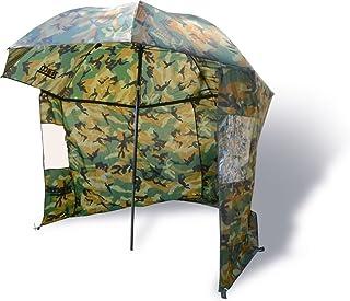 Zebco Schirme Nylonstorm Umbrella 2.20m Camou - Paraguas de