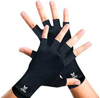 Best Arthritis Gloves for Women and Men by Copper Compression Hand Gear - Guaranteed to Speed Up Recovery + Relieve Symptoms of Carpal Tunnel Syndrome, Arthritis, RSI, Tendonitis + More. (Pair of Gloves) Review