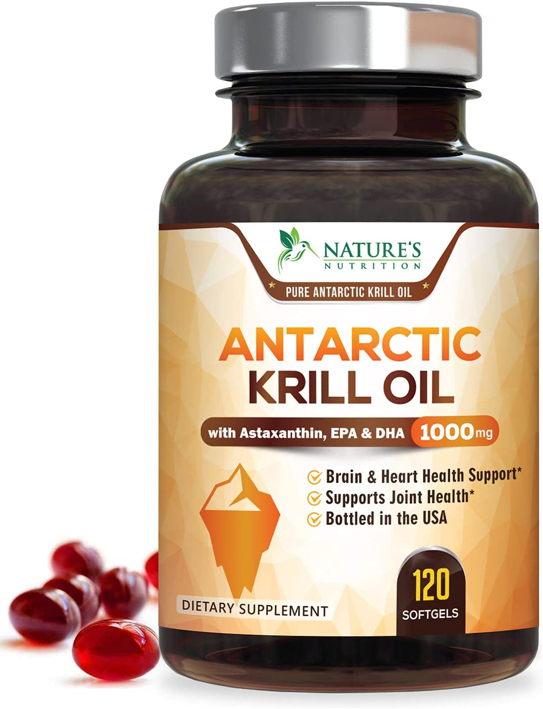 Antarctic Krill Oil Great 2021 model interest Supplement 1000mg Tested O Purity with
