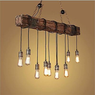 Pendelleuchte Vintage Pendellampe Höhenverstellbar Holz