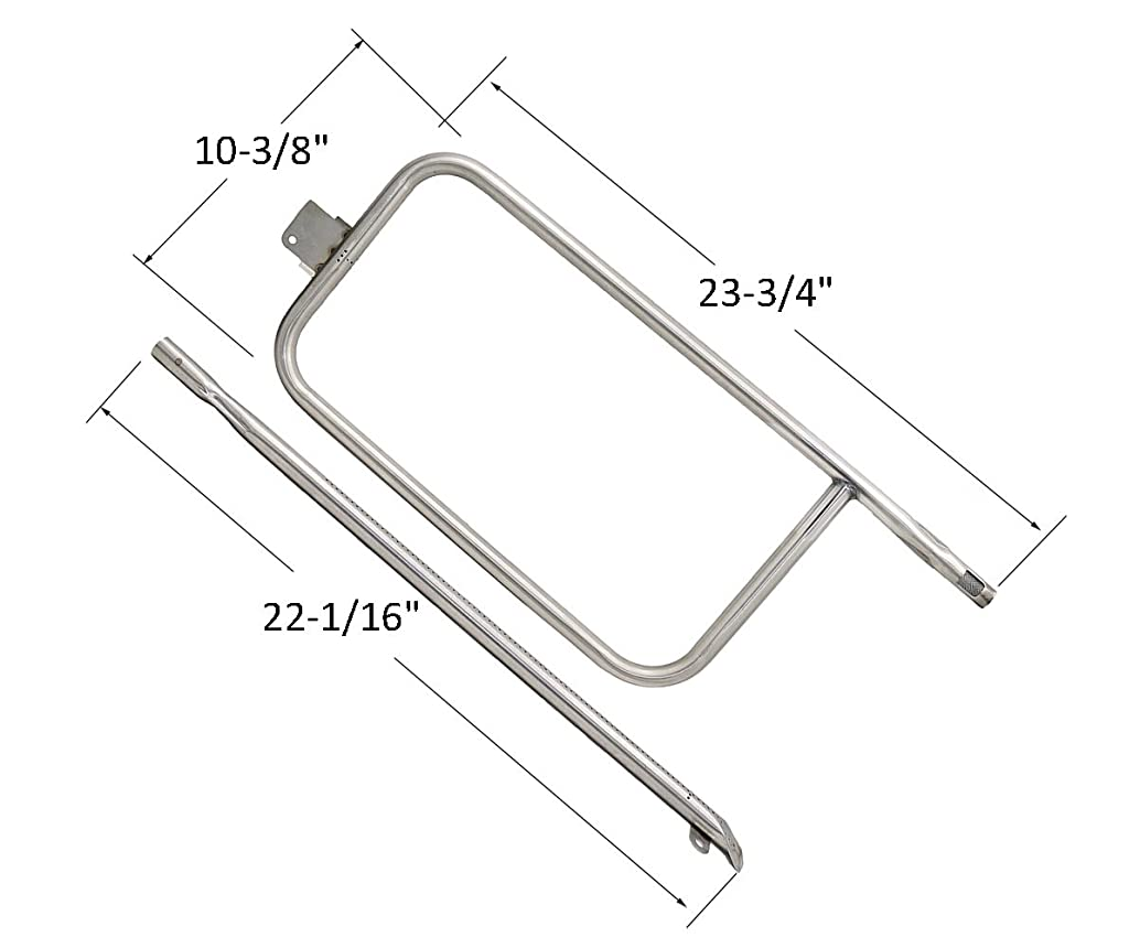 Outspark 1 Pack Stainless Steel BBQ Parts Stainless Steel Burner, Grill Burner, Gas Barbeque Replacement for Weber Q300, Weber Q320 Series, Q3000, Q3200 gas grills