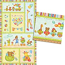 Clearance Sale~Its a Miracle Panel 24 x 44 Cute Cotton Fabric by Benartex