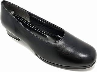sena moon レディース 婦人靴 4E 幅広 パンプス 532 フォーマル ブラック【本革】