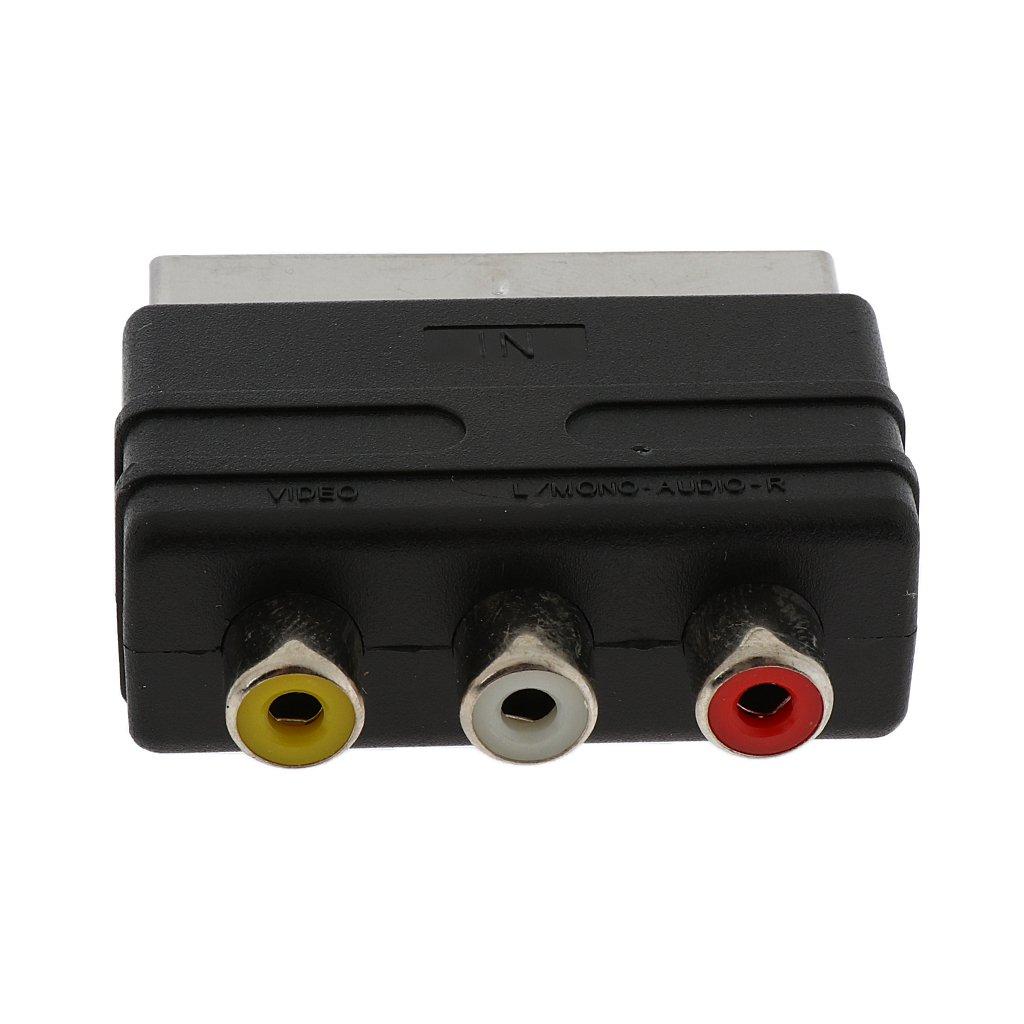 Adaptador de Conversión 20 pines SCART a 3 RCA Audio/Video AV Entrada TV Adaptador Video Convertidor: Amazon.es: Electrónica