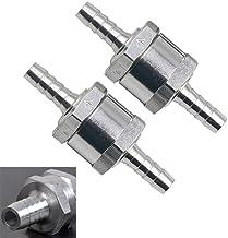 Lezed 2 Piezas 6mm Válvula de retención de combustible de Aluminio aleación, Válvula Antirretorno de Retorno de Combustible, non-return una manera gasolina Diesel valvula