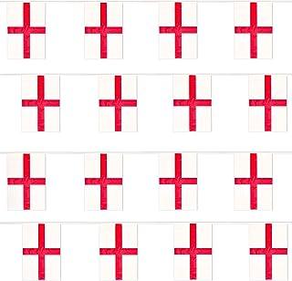 ST. George flaga angielska impreza euro, dekoracja duża, europejska, ogromna 20 x 30 cm, na każdą pogodę, plastik, chustec...