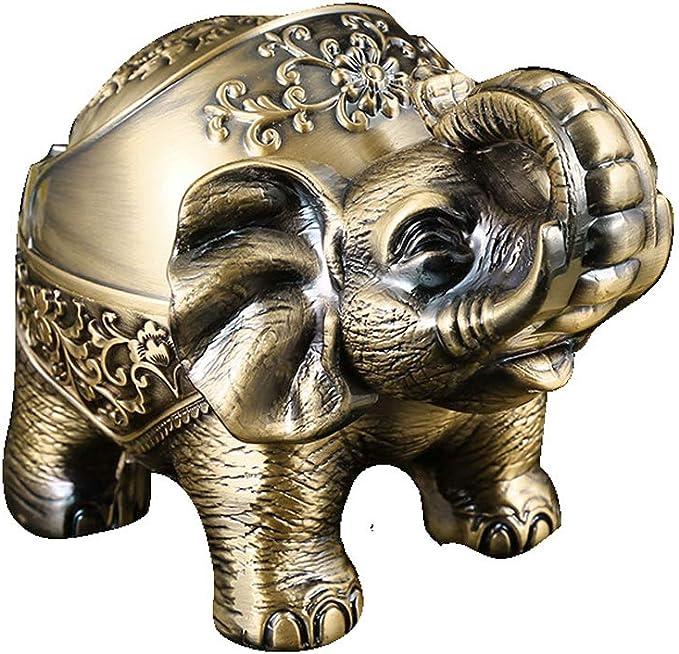 Lustig Aschenbecher Windaschenbecher Aschenbecher Mit Deckel Elefant Aschenbecher Für Zigaretten Vintage Asche Halter Dekoration Amazon De