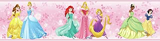 York Wallcoverings Kids III Disney Princess Border, Pinks