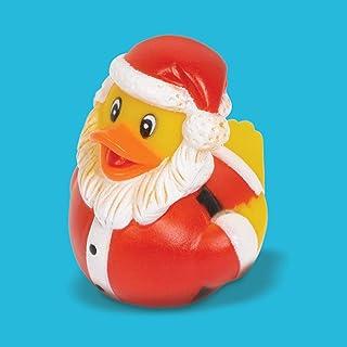 amscan 3900447 Rubber Ducky Santa-6cm-1 Pc