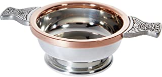 Wentworth Pewter - Standard Pewter Copper Quaich Whisky Tasting Bowl Loving Cup Burns Night