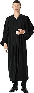 Ivyrobes Unisex Premium Matte Black Baptismal Robe with Weighted Hem