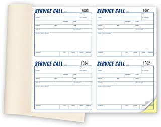 CheckSimple Phone Message Book - Contractor Service Call Book - Perforated Duplicate Copies (3 Books)