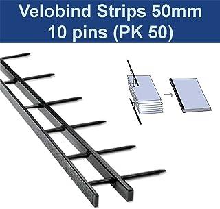 Velobind Strips 50mm black 10 pins (PK50)
