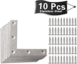 Alise Stainless Steel Flat Shape Repair Mending Plate Joining Bracket Support Brace 80mm x 80mm,10 Pcs Silver