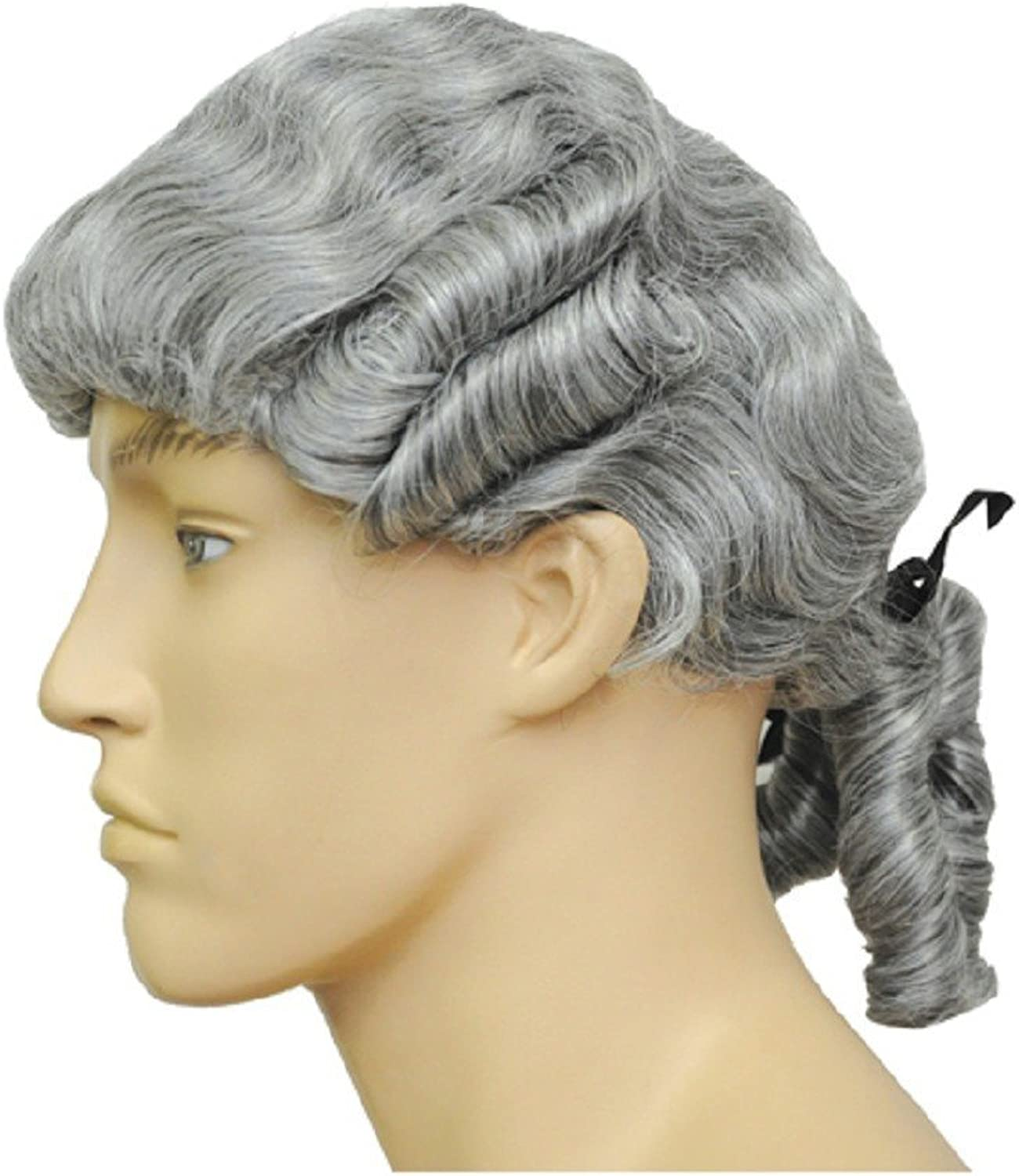 LACEY WIGS Colonial Man Purple Costume Wig