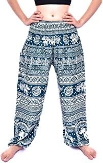 GRINGO Elephant Print Boho Cotton TROUSERS Baggy Pants Size 8-16 FESTIVAL