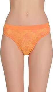 FashionComfortz Women's Orange Color Hipster Panty (Pack of 1)