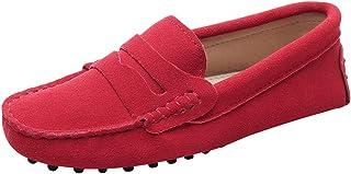 Jamron Femmes Classique Daim Noeud Papillon Penny Loafers Confortable Fait Main Pantoufle Mocassins