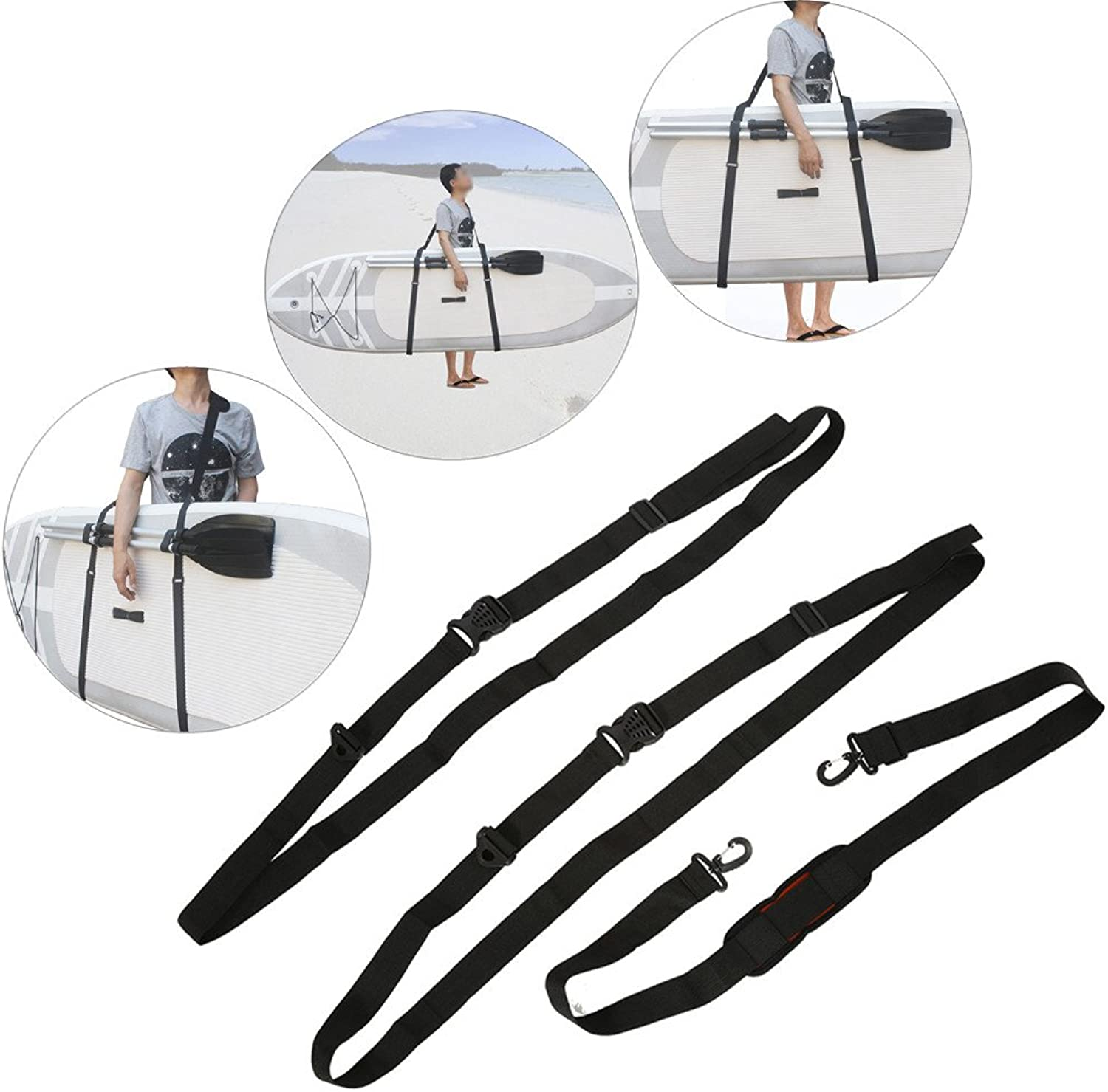 Stand Up Surfboard Straps  Surfboard Paddleboard Carrier Shoulder Carry Strap Easy Carry Storage Strap Shoulder Sling  Longboard Carry Strap Adjustable Board Strap