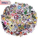 Aufkleber Sticker Graffiti Stickerbomb 200 Stück Wasserdicht Vintage Hippie Pop Art für Auto Motorrad Fahrrad Skateboard Snowboard Gepäck Laptop Macbook Helm Gitarre iPhone PS4 Xbox One Nintendo