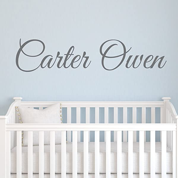 Boys Nursery Personalized Custom Name Vinyl Wall Art Decal Sticker 36 W Boy Name Decal Boys Name Nursery Name Boys Name Decor Wall Decals Boy S Bedroom Decor Plus Free 12 Hello Door Decal