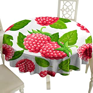 Dustproof tablecloth Seamless pattern of raspberry Vector illustration of raspberry with green leaves Vector illustration for decorative poster emblem natural product farmers market Website page and