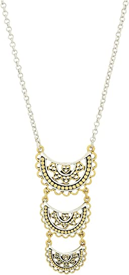 Lucky Brand - Openwork Three Tier Pendant Necklace