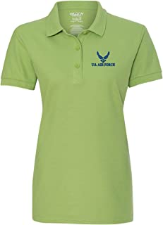 US Air Force Custom Personalized Embroidery Embroidered Golf WOMEN Polo Shirt