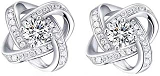 TODUBEM 925 Sterling Silver Diamond Studs Earrings
