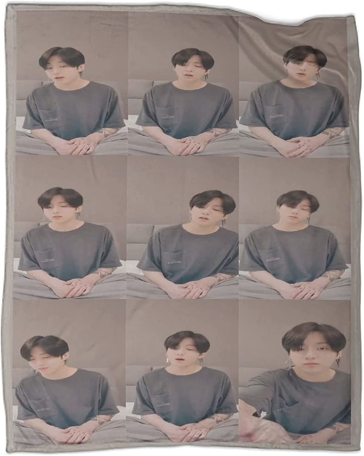 Wugod B-t-s 5% OFF Jungkook Lauv Never Credence Throw Not Su Lightweight Blanket
