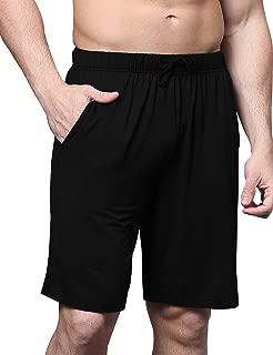 Men's Bamboo Sleep Shorts Loose Lounge Bottoms S-XL