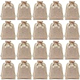 Axe Sickle 5.9 x 7.9 Inch Polyester Fibre Jute Gift Bag Drawstring and Lining 20 Pcs DIY Craft Jewelry Pouch, Storage Linen Burlap Jewelry Pouches Sacks Apply to Birthday Parties and Wedding.