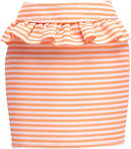 Barbie Fashions Peach and White Striped Peplum Skirt Pack