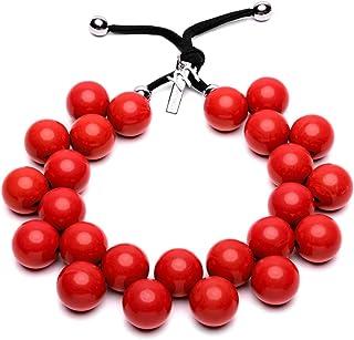 BallsMania Collana Elasticizzata colore Rossa, Idea, Collana Donna, Donna, Gioielli da Donna, Accessori Moda.Bigiotteria 1...