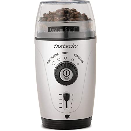 Hamilton Beach Custom Grind Hands-Free Coffee Grinder, Platinum