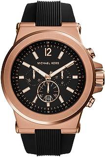 Michael Kors Dylan Men's Black Dial Silicone Analog Watch - MK8184