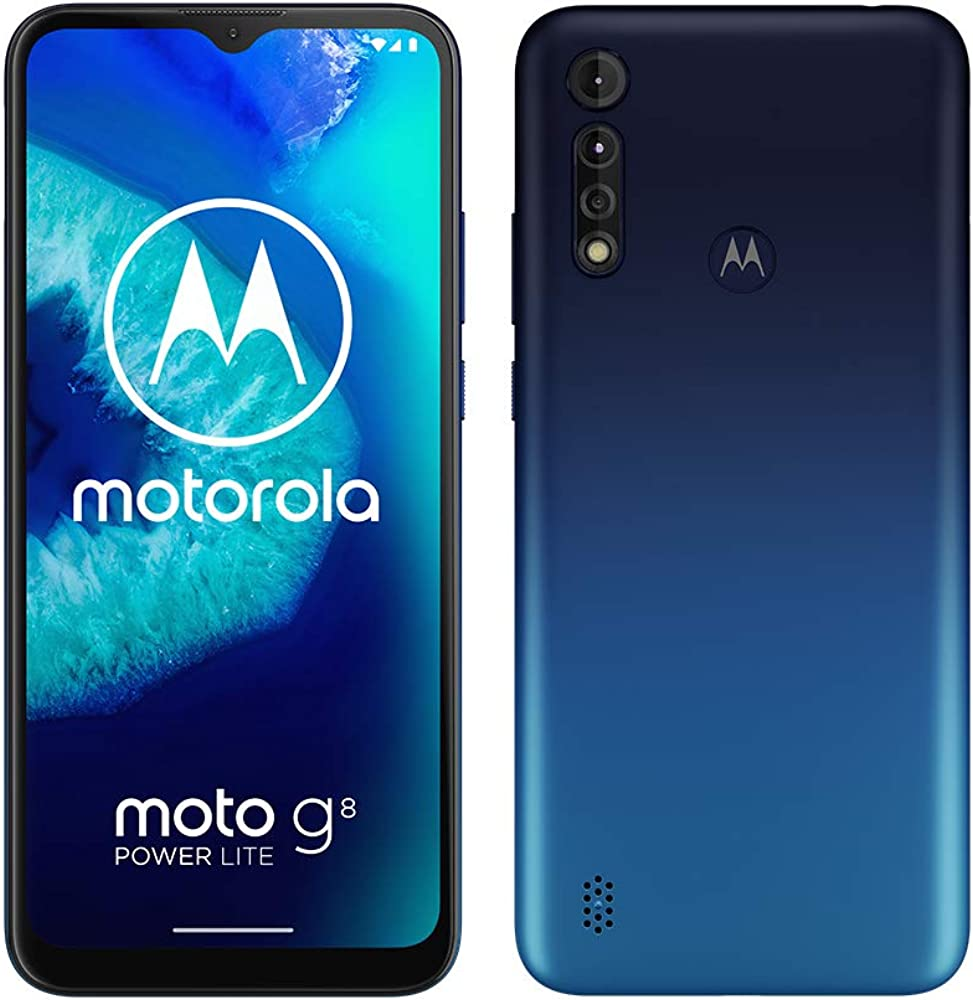 Motorola moto g8 power lite, batteria 5000 mah, tripla fotocamera 16mp dual sim XT2055-1