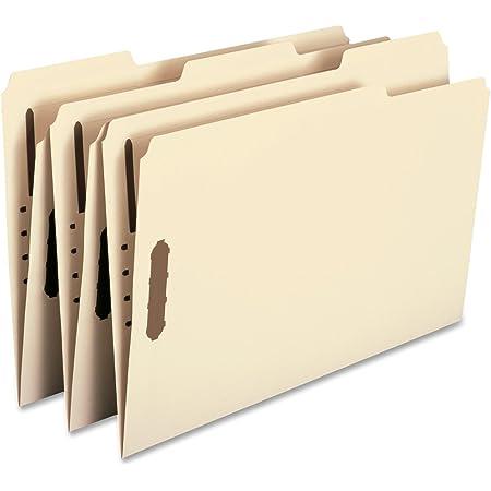 Smead Fastener File Folder, 2 Fasteners, Reinforced 1/3- Cut Tab, Legal Size, Manila, 50 Per Box (19537)