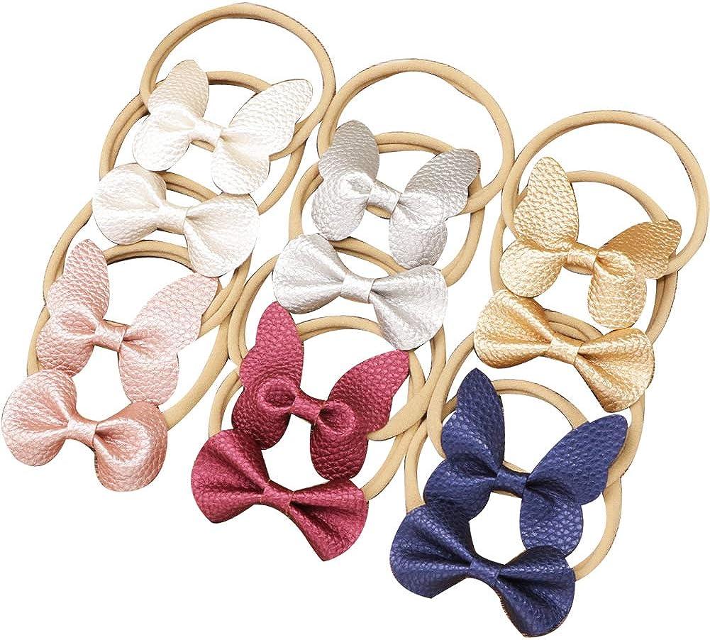 Very popular Butterfly Bows Headbands Nashville-Davidson Mall Nylon Pattern Artificia Litchi Hairband
