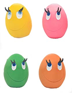 """Extra Small Dog Toys with Squeaker (Set of 4). 1.75"""" W x 1.5"""" D x 2.25"""" H. 100% Natural Rubber (Latex). Complies to Same S..."""