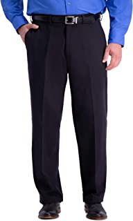 Haggar Men's Big and Tall B&t Work to Weekend Pro Relaxed Fit Flat Front Pant