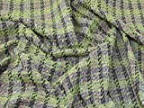 Minerva Crafts Tweed-Stoff, Limettengrün, Meterware