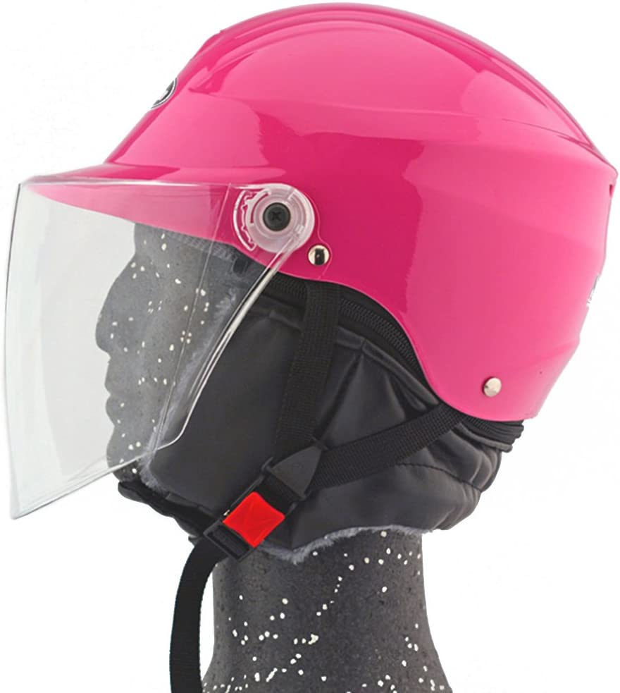 Moto Moto Scooter Moto Cyclomoteur Vélo électrique automobile Tête travail protection sécurité bedeckung Helmet Chapeau d'hiver 301–1Rose