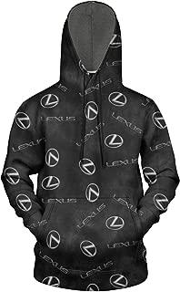 Men Lexus-Lexus-Lowest-Price-car-Logo- Fleece Wool Warm Hoodie Sweatshirt Casual Pullover Lightweight Hoodie
