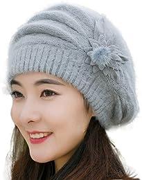 Bonnet Femme, Bonnet tricoté au Crochet Adulte Fem