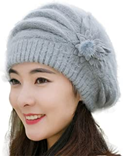 Banana in Blue Background Knitted Beanies Hat Winter Wool Skull Cap
