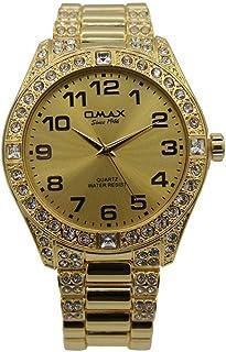 ساعة يد للجنسين من اوماكس ، انالوج بعقارب ، ذهبي